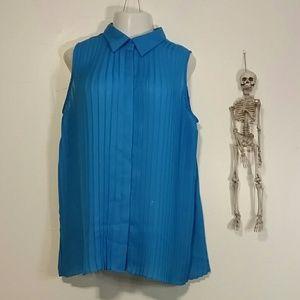Woman's blue Lane Bryant blouse size 22